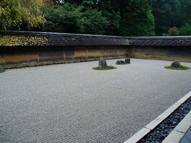 zen garden gravel and stones