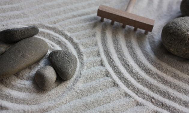 zen garden sand and stones