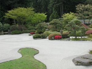 In A Zen Garden, Everything In It Has A Meaning, Although That Is Far From  Obvious To The Casual Observer. Zen Gardens Usually Incorporate A Lot Of  Sand, ...
