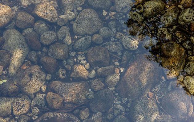 water garden stones