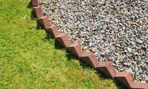 Brick garden edging made easy