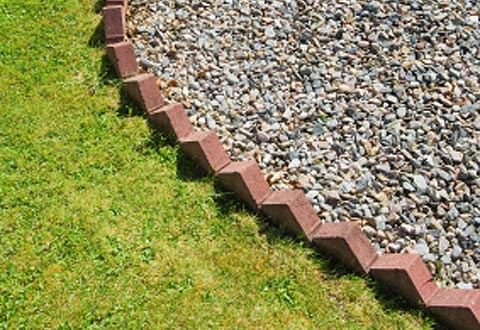 Brick garden edging made easy Gardening Site