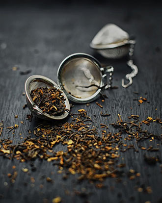 dried herbs as tea